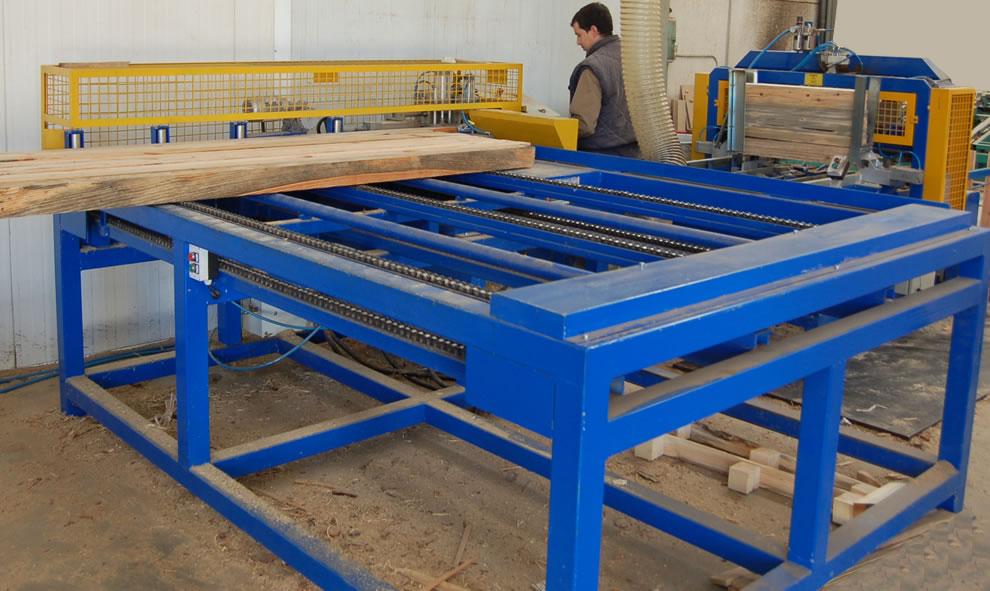 Todopalets: Comienzan los trabajos de construcción de una máquina canteadora y multiple vertical de doble eje.