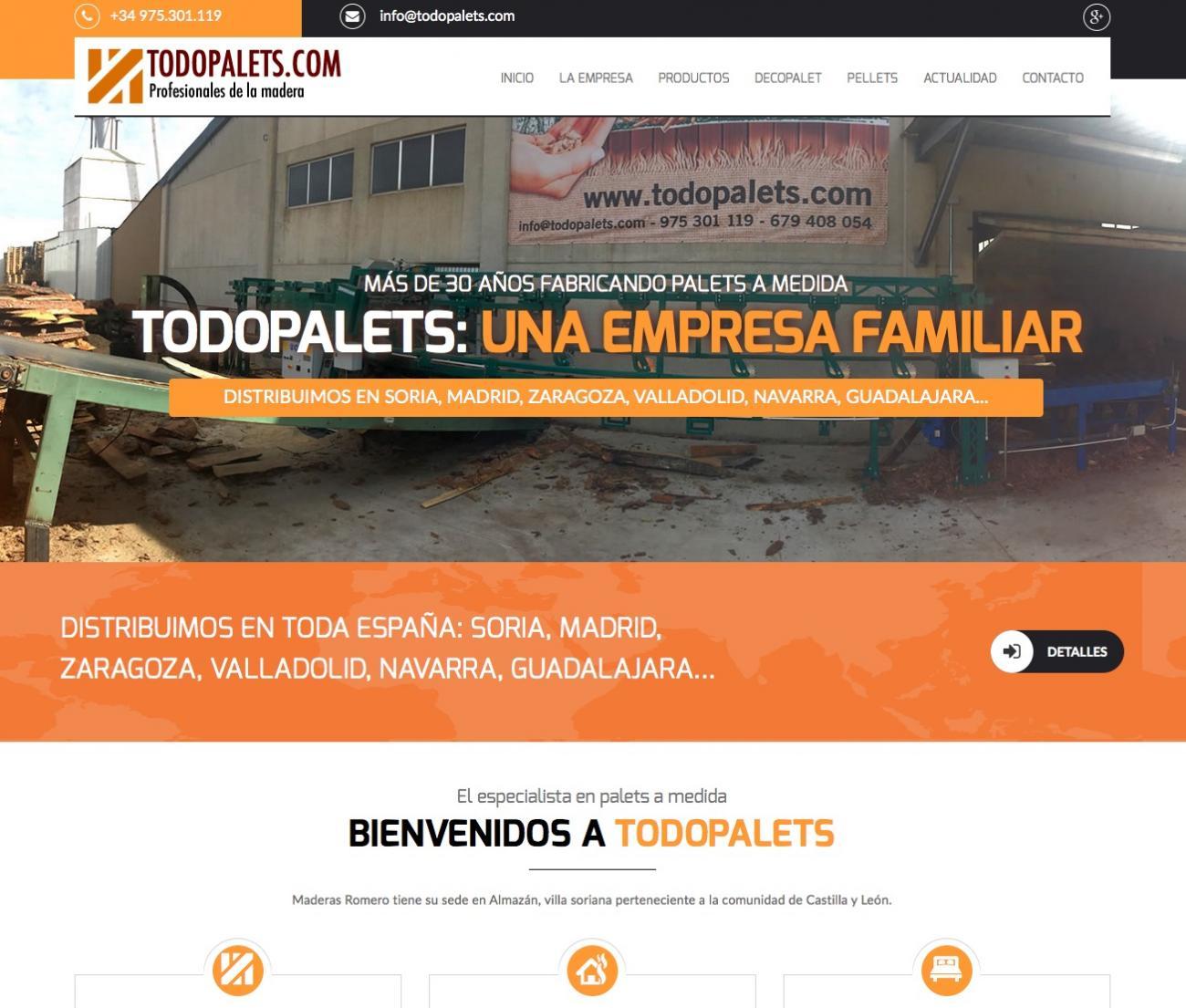 Todopalets: Reinauguramos nuestra nueva página web